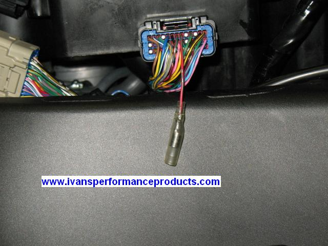 ivan s performance products attach a female insulated terminal to the ecu connector you can also just leave the cut end in the harness because it s not being used
